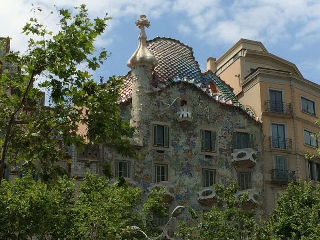 La Casa Batlló, en el Paseo de Gracia (Barcelona)