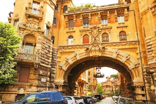 Barrio Coppedè, en Roma
