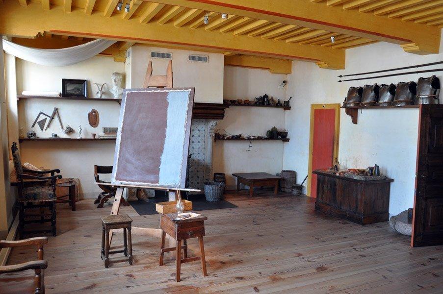 Estudio de Rembrandt, en el Museo Rembrandt (Amsterdam)
