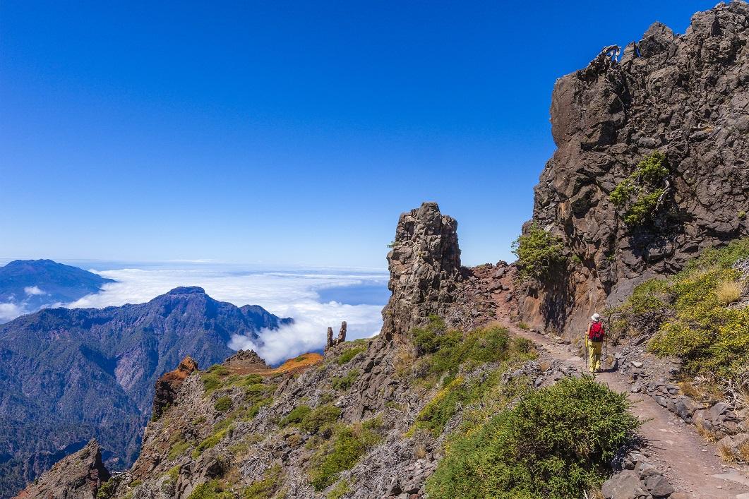 Parque Nacional de la Caldera de Taburiente, en la Palma (Islas Canarias)