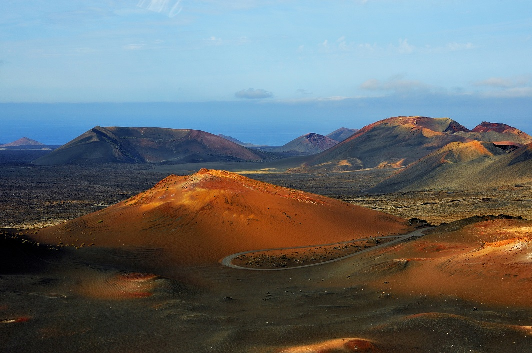 Parque Natural de Timanfaya, en Lanzarote (Islas Canarias)