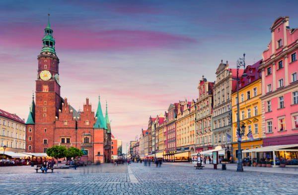 Plaza del Mercado de Wroclaw (Polonia)