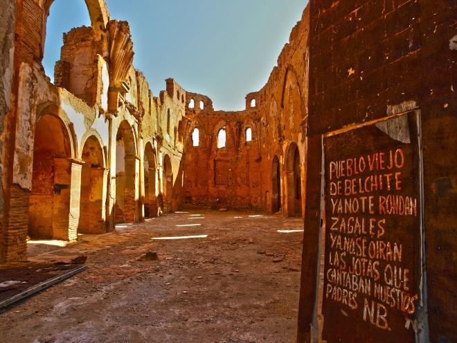 Ruinas de Belchite, en la provincia de Zaragoza