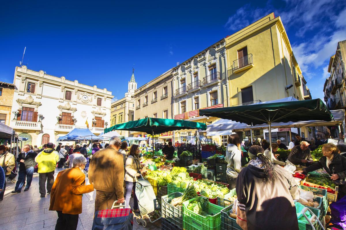 Sábado de mercado en Vilafranca del Penedés