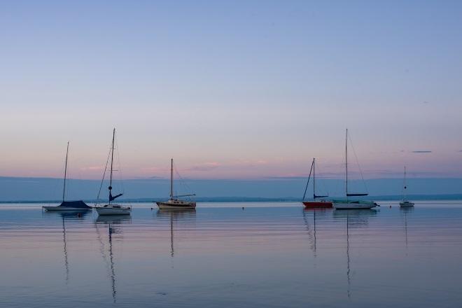 Lago Balaton, en Hungría