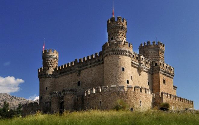 Castillo de los Mendoza, en Manzanares del Real (Madrid)
