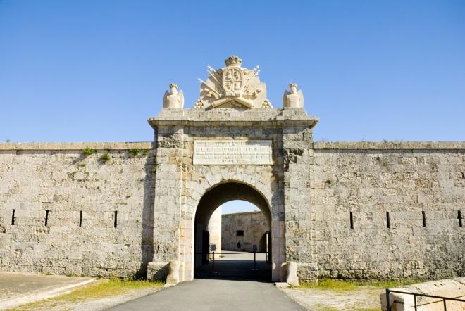 Fortaleza de la Mola, en Menorca