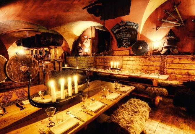 Restaurante vikingo Aifur, en Estocolmo