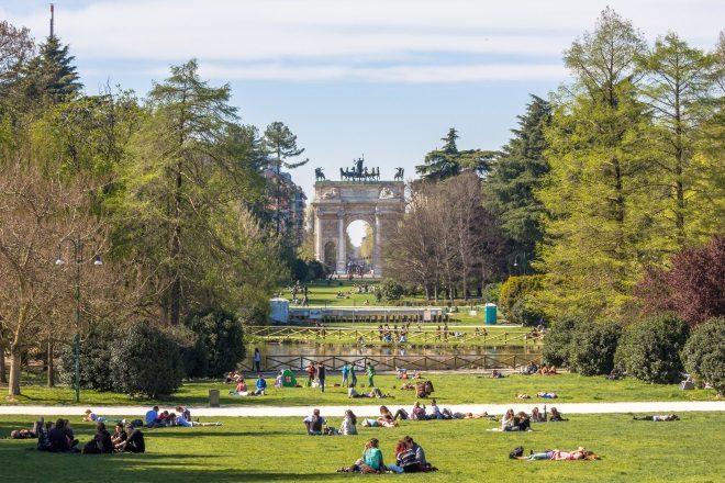 Parque Sempione, en Milán
