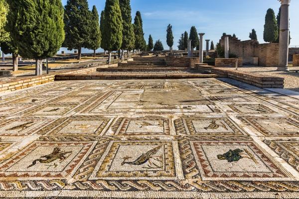 Ruinas de Itálica, en la provincia de Sevilla