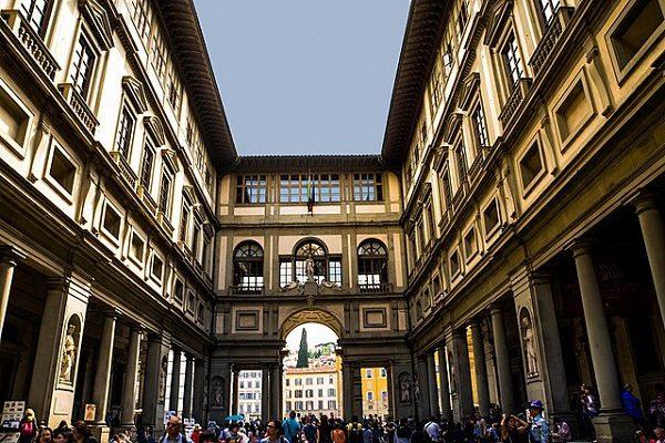 La Galleria degli Uffizi, en Florencia