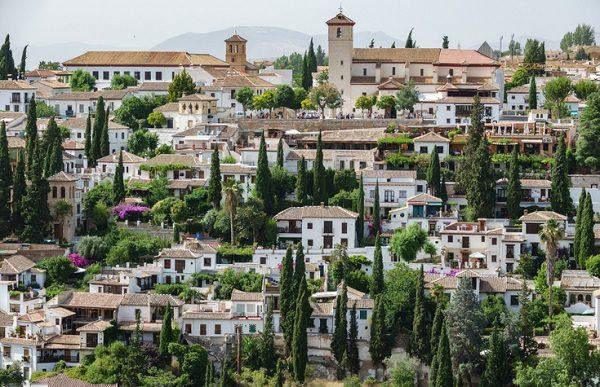 Barrio de Albaicín, en Granada