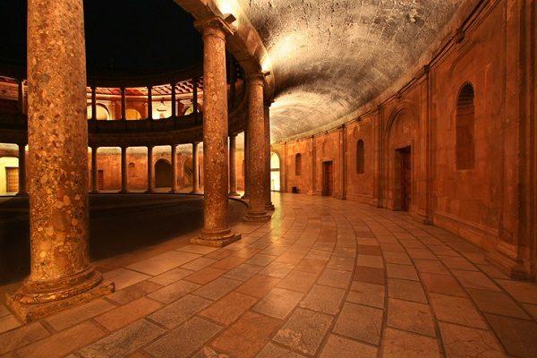 Palacio del emperador Carlos V, en Granada
