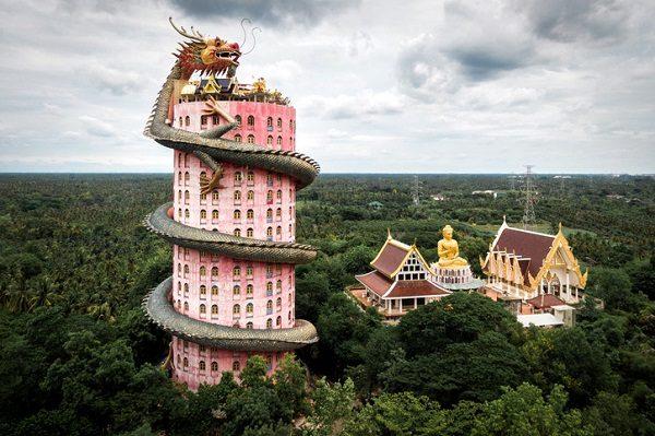 Templo del Dragón, en Tailandia.