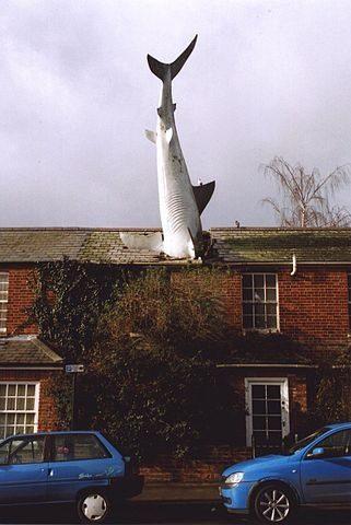 Tiburón de Headington, en Oxford (Inglaterra)