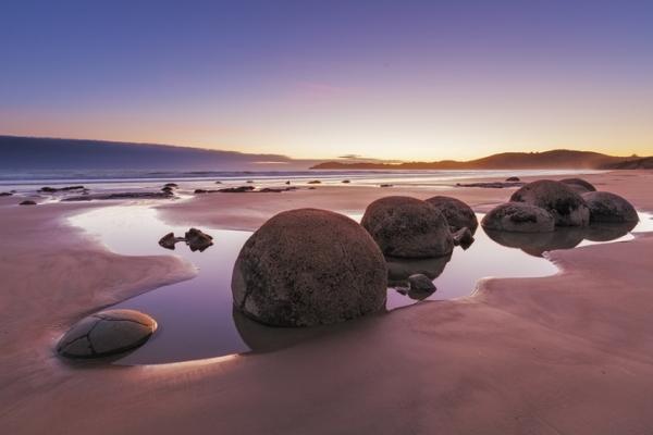 Playa de Koekohe, en Nueva Zelanda