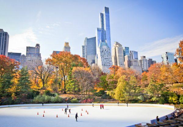 Pista de hielo en Central Park (Nueva York)