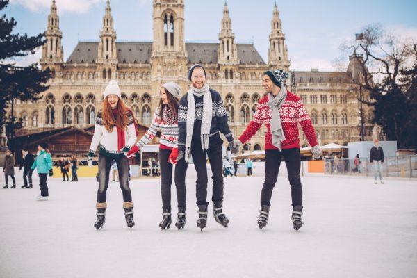 Pista de hielo en Viena
