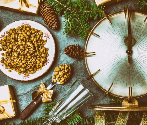 Lentejas en Año Nuevo, tradición italiana
