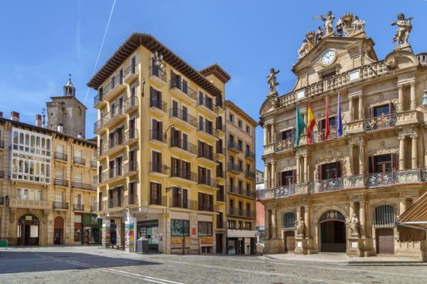Plaza Consistorial, en Pamplona (Navarra)