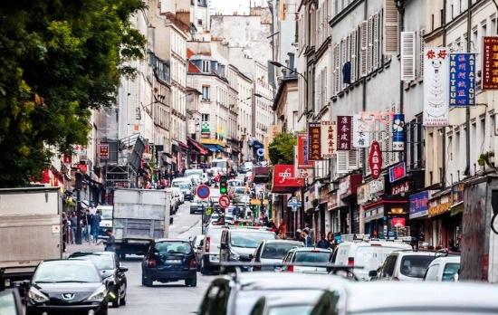 Distrito de Belleville, en París