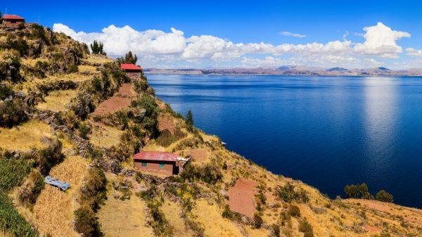 Taquile, isla en el Lago Titicaca (Perú)