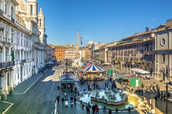 Mercado en la Piazza Navona (Roma)
