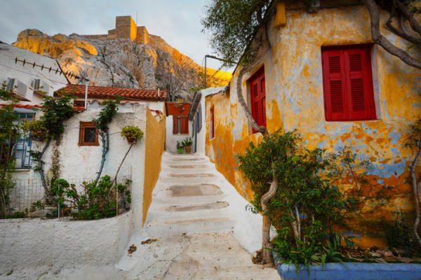 Barrio de Anafiotika, en Atenas