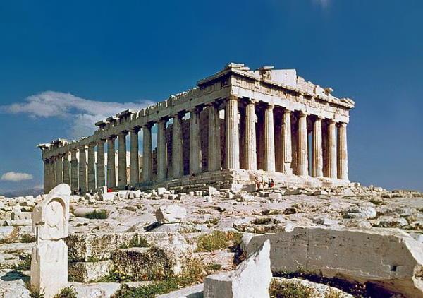 Partenón, en la Acrópolis (Atenas)