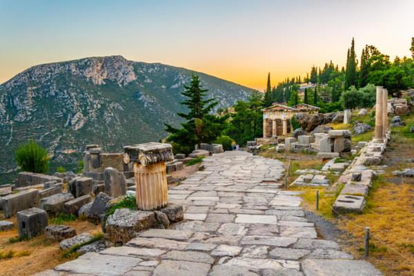 Sitio arqueológico de Delfos, en Grecia