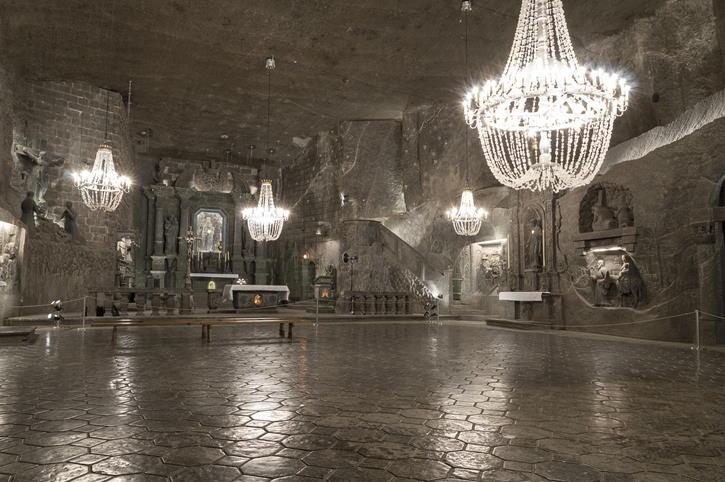 Minas de sal de Wieliczka, cerca de Cracovia