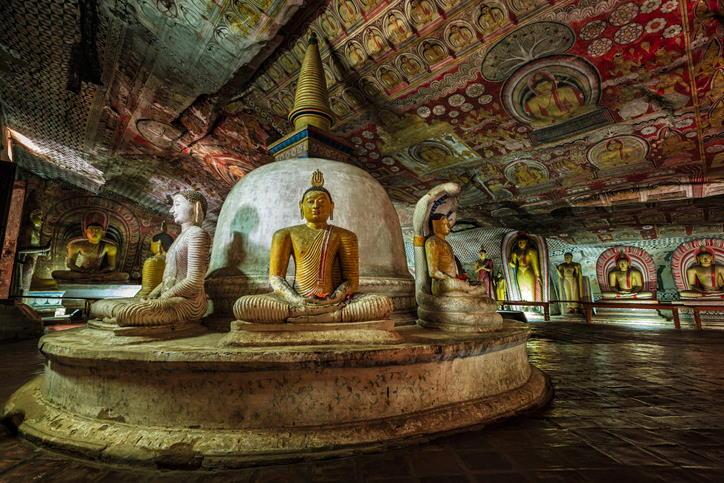 Cuevas de Dambulla, en Sri Lanka