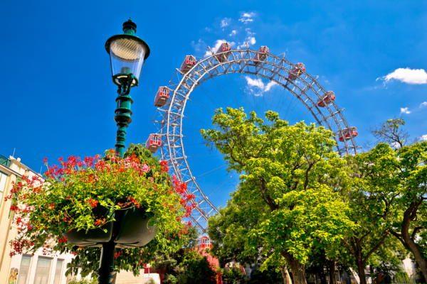 Parque de atracciones en el Prater de Viena