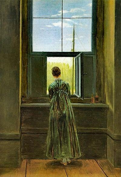 Mujer en la ventana (Friedrich)