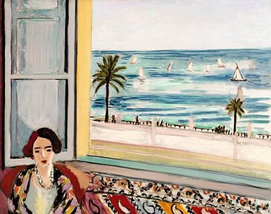 Mujer sentada de espaldas a la ventana (Mattisse)