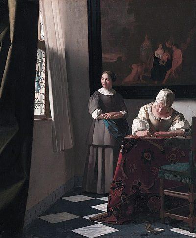 Mujer escribiendo una carta (Vermeer)