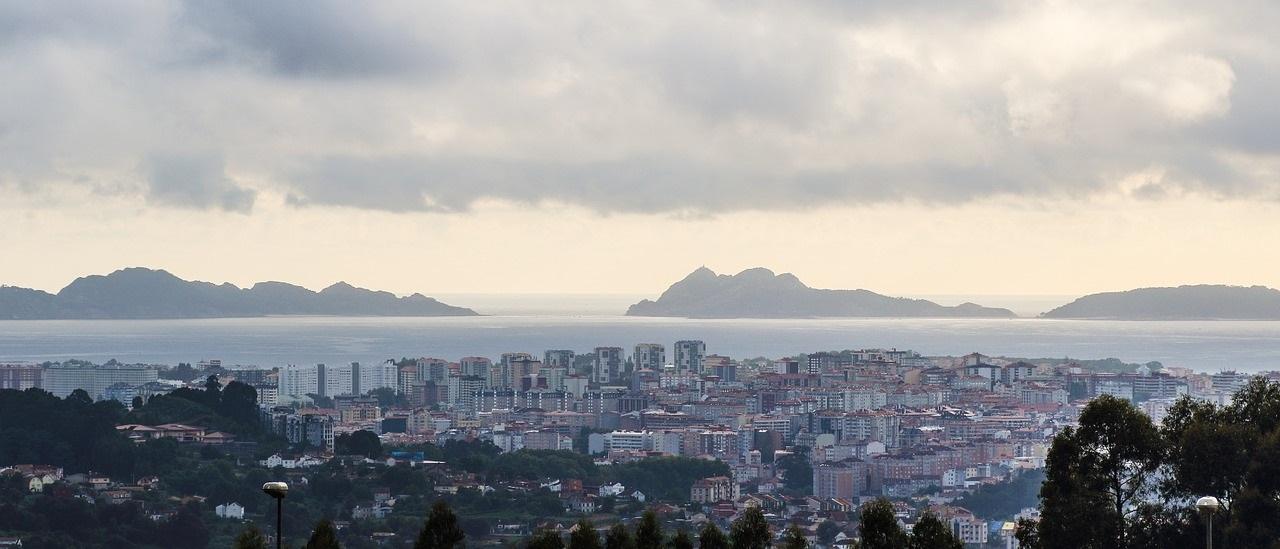 Vistas de las Islas Cíes desde Vigo