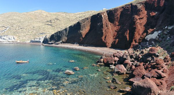 Playa de Santorin (Grecia)