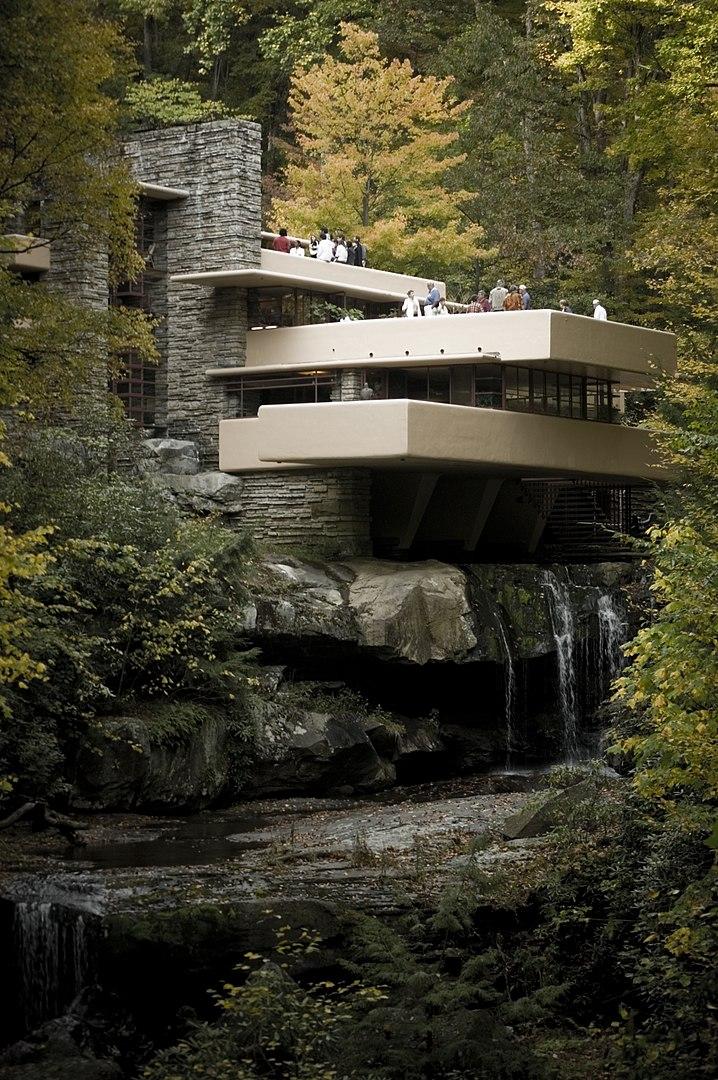 Casa de la cascada, de Franz Lloyd Wright
