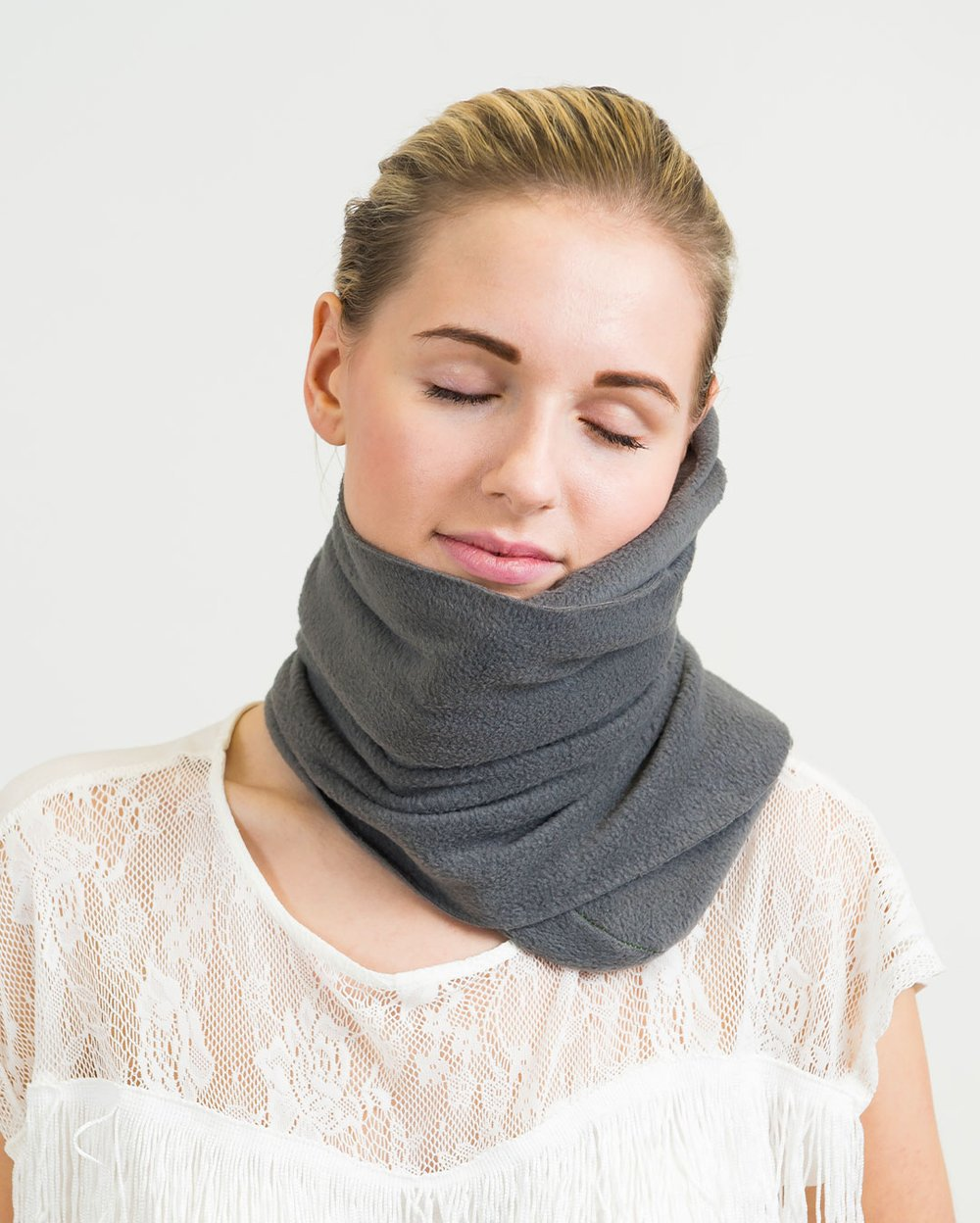 Almohada de viaje bufanda