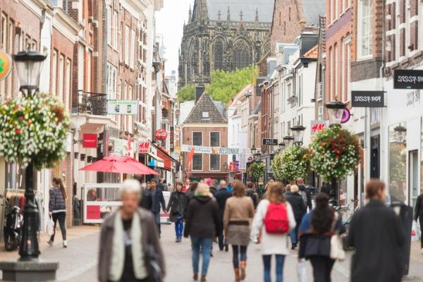 Calle comercial en Utrecht