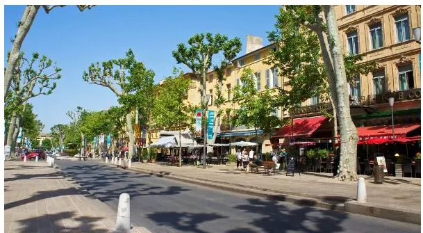 Cours Mirabeau en Aix-en-Provene