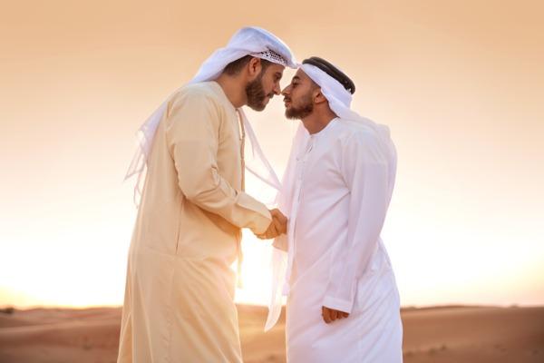 Saludo en Arabia Saudí