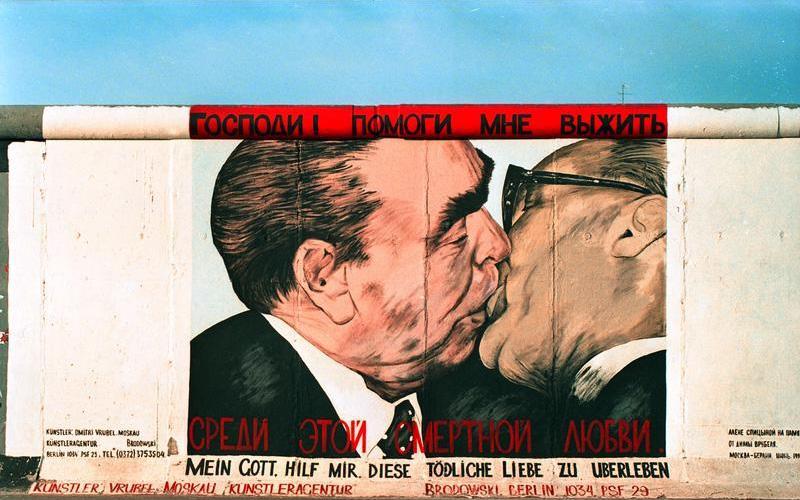 Brotherhood kiss (Muro de Berlín)