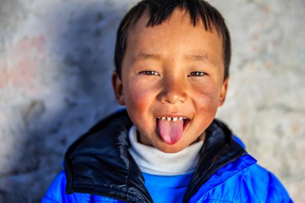 Saludo en el Tíbet